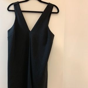 Woven black cocktail dress